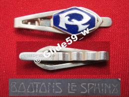 """Ancienne Pince à Cravate En Métal Argenté émaillé Avec Initiale """"R"""" (Superfix) (Boutons Le Sphinx) (années 40/50) - Accessoires"""