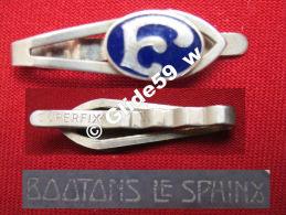 """Ancienne Pince à Cravate En Métal Argenté émaillé Avec Initiale """"F"""" (Superfix) (Boutons Le Sphinx) (années 40/50) - Accessories"""