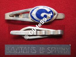 """Ancienne Pince à Cravate En Métal Argenté émaillé Avec Initiale """"G"""" (Superfix) (Boutons Le Sphinx) (années 40/50) - Accessories"""