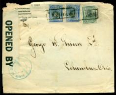 Peru 1918 Cover From Paita To Columbus (OHIO) Opened By Censor - Pérou