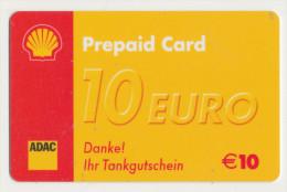 Shell 10 € Geschenkkarte / Giftcard - ADAC  -  Gebraucht / Leer  !!!!! ( 260 ) - Gift Cards
