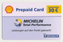 Shell - 30 € - Geschenkkarte/Giftcard - Michelin -   Gebraucht / Leer  !!!!! ( 266 ) - Gift Cards