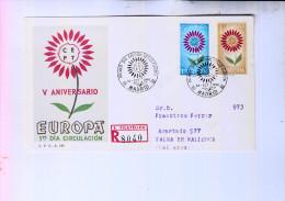 ESPANA / SPANIEN - EUROPA 1964 FDC, R-Letter - FDC