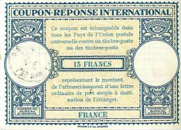 FRANCE 1946, London Type XIV 15 FRANCS International Reply Coupon Reponse IAS IRC Antwortschein - Buoni Risposte