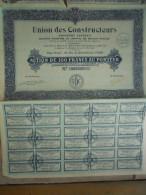 ACTION UNION DES CONSTRUCTEURS PARIS AUFFRAY - Automobile