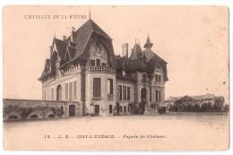 Issy-l'Evêque - Façade Du Château - édit. L.B. - Chocolaterie D'Aiguebelle 14 + Verso - Altri Comuni