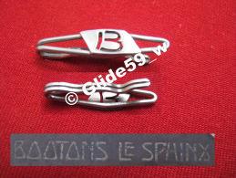 """Ancienne Pince à Cravate En Métal Argenté Avec Initiale """"B"""" (Boutons Le Sphinx) (années 40/50) - Accessoires"""