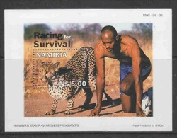 Namibia 1998 Racing For Survival M/s ** Mnh (26725G) - Namibië (1990- ...)
