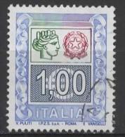 ITALY 2002 Woman's Head And State Arms - €1 - Multicoloured  FU - 6. 1946-.. Repubblica