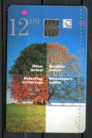 """Germany,Allemagne 1996 Telefonkarte,Phone Card""""Deutscher Wetter Dienst- 4 Jahreszeiten,Schöne Aussichten"""" 1 TK Used - Saisons"""