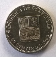 Monnaie - Venezuela - 50 Centimos 1965 - Superbe - - Venezuela