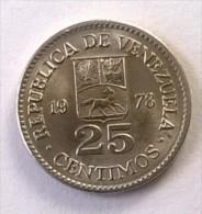 Monnaie - Venezuela - 25 Centimos 1978 - Superbe - - Venezuela