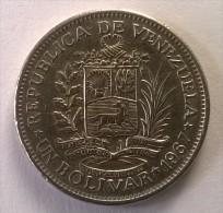 Monnaie - Venezuela - 1 Bolivar 1967 - TTB - - Venezuela