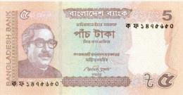 Billet Bangladsh 5 Rupees NEUF - Bangladesh