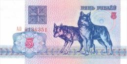 Billet Bielirussie 5 Roubles NEUF - Monedas