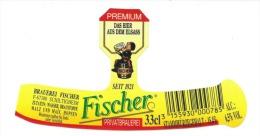 Etiquette Biere Fischer Schiltigheim  Fischer  Privatbrauerei Premium Das Bier Aus Dem Elsass Seit 1821  33cl 6,5%vol - Bière