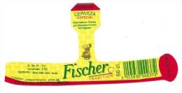 Etiquette Biere Fischer Schiltigheim  Fischer Premium Cerveza Especial Tradition 66 Cl - Bière