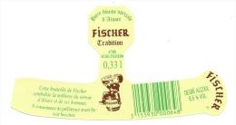 Etiquette Biere Fischer Schiltigheim  Fischer Tradition 0,33l 6,5%vol - Bière