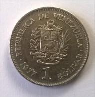 Monnaie - Venezuela - 1 Bolivar 1977 - - Venezuela