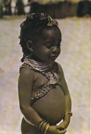 ANGOLA -  Jovem Mumuila Girl, Fille, Enfant - Vintage Old Photo Postcard - Angola