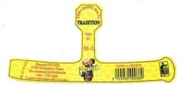 Etiquette Biere Fischer Schiltigheim  Fischer Tradition  Birra Doppio Malto 66cl  6,5%vol  Vetro A Perdere - Beer