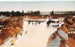 WORMHOUT (Nord) - 3 CP Des Panoramas De La Place Dont Une Circulée En 1939 Et Colorée - Wormhout