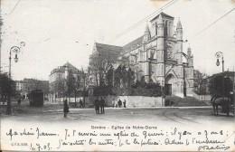 GENEVE - SUISSE -  CPA DOS SIMPLE De 1905 - Eglise Notre Dame - VAN - - GE Genève