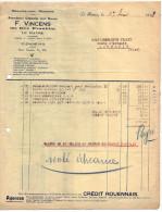 1928--LE HAVRE-76--Fournitures Générale Bureaux Pour LOUVROIL-59-Facture,commande+lettre Change Crédit Rouennais Fiscaux - 1900 – 1949