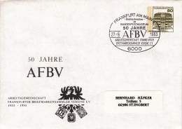 PU 117/108  50 Jahre AFBV - Arbeitsgemeinschaft Frankfurter Briefmarkensammler Vereine E.V., Frankfurt Am Main 1 - Sobres Privados - Usados