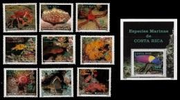 (021+26) Costa Rica   Fish / Marine Life / Vie / Poissons / 1994   ** / Mnh  Michel 1430-38 + BL 14 - Costa Rica