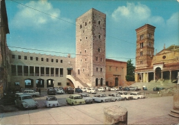 TERRACINA  LATINA  Cattedrale E Piazza Del Municipio  Torre Vescovile  Auto Alfa Romeo VW Fiat - Latina