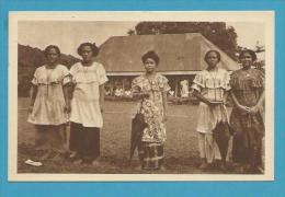 CPA Jeunes Elèves Des Soeurs D'APIA - ILES SAMOA - OCEANIE