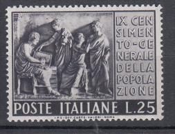 Italia 1951 Censimento ** 25 Lire - 1946-.. République