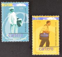 Argentinien Argentina 1998 Michel Nr. 2401-02 Amerika 1997 Der Postbote - Ungebraucht