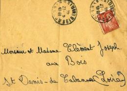 BELLE ENVELOPPE TIMBREE DE 1944 - IRIS. - 1939-44 Iris