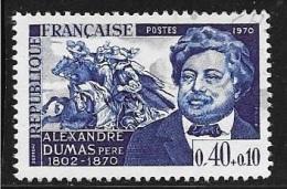 N° 1628  FRANCE  - OBLITERE  -  ALEXANDRE DUMAS  -  1970 - France