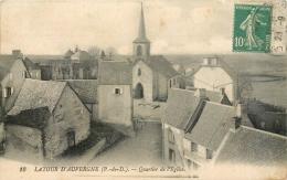 D 63 -LATOUR D' AUVERGNE - Quartier De L' église   - 1136 - Otros Municipios