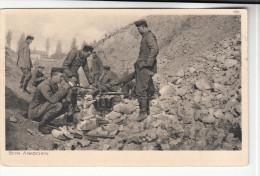 AK 1. Weltkrieg, Soldaten Beim Abkochen, Ostpreußenhilfe Karte, 1917 - Weltkrieg 1914-18