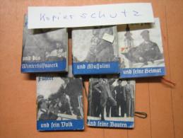 WHW-Reichsstrassensammlung, Der Chef Und........., Tieste 136-140, Komplette Serie! - 1939-45