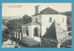 CPA 203 - Le Temple Protestant MEYRUEIS 48 - Meyrueis