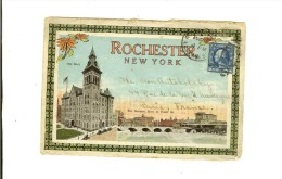City Hall Rochester New York The Genesee River At Court St - Stamp  Year 1919  -2 Scans - Rochester