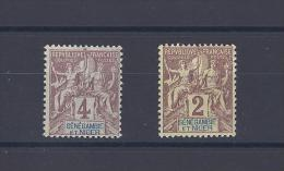 SENEGAMBIE ET NIGER. YT 3 Et 2 Légende En Bleu 1903 Neuf * - Nuevos
