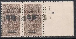 """ALGERIE COLIS POSTAL N°15 N** EN PAIRE, Variété """"c"""" Fermé Tenant à Normal - Algérie (1924-1962)"""
