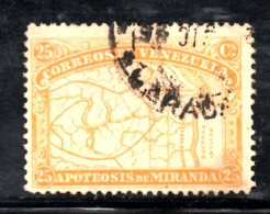 Y382 - VENEZUELA 1896 , 25 Cent Ocra N. 56 Usato - Venezuela