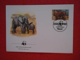 Uganda FDC Serie World Animals Widelife Fund 1983 Nice Stamp - Uganda