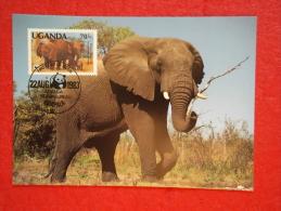 Uganda Serie World Animals Widelife Fund 1983 Nice Stamp - Oeganda