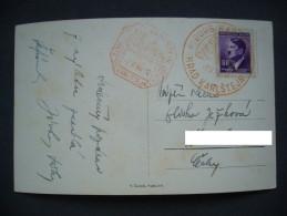 Bohemia & Moravia: Hrad Karlstejn Castle Postmark Burg Karlstein Burg Stempel - 7. 5. 1944 - Bohemia & Moravia