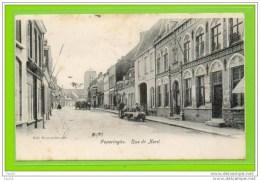 POPERINGHE -   Rue Du Nord.  CPA Précurseur  Dos Réserve A L´adresse - Poperinge