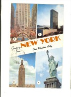 P11505 - New York The Wonder City Four Views - 1962 Two Stamps Lincoln & Us Air Mail 7 - Multi-vues, Vues Panoramiques