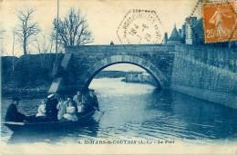 Cpa SAINT MARS DE COUTAIS 44 Le Pont - Passeur, Barque - Frankrijk